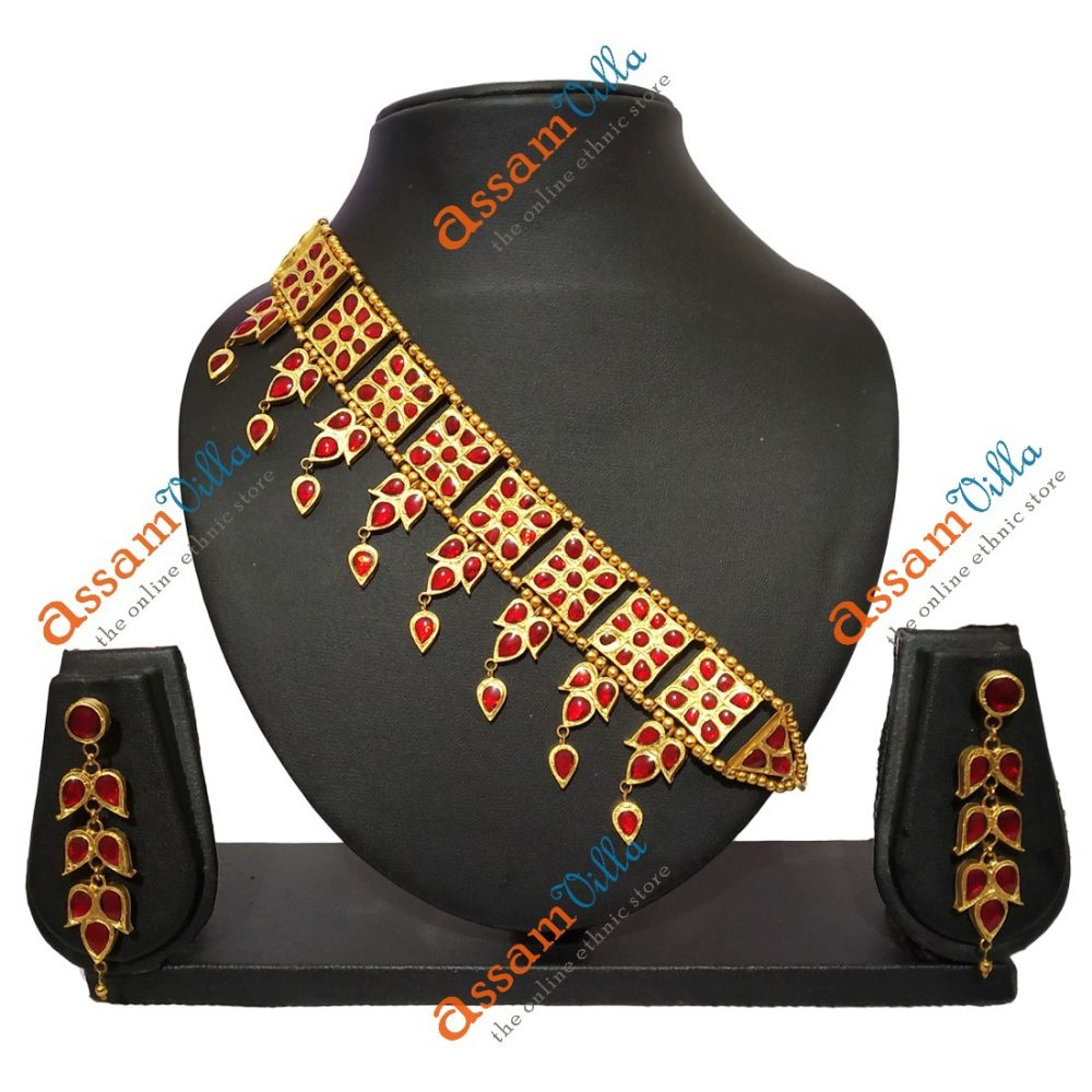 Assamese Traditional New Square Golpota With Small Paat Pendant 1