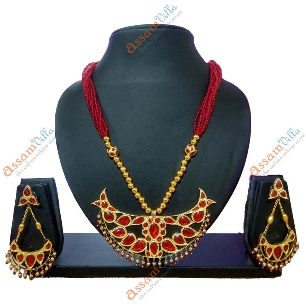 Big Size Bena Pendant Jewellery Set