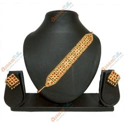 Square Goplota Necklace Assamese Jewellery Set